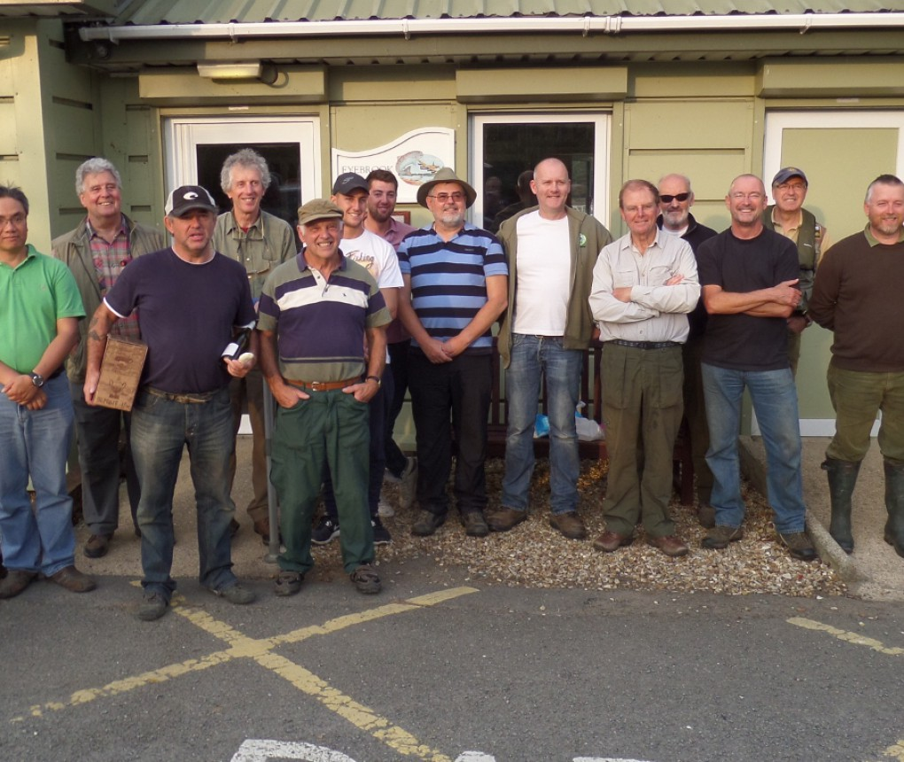 The Guash Fishing Club and the Mayfly, tired but happy after a long day on the lake.